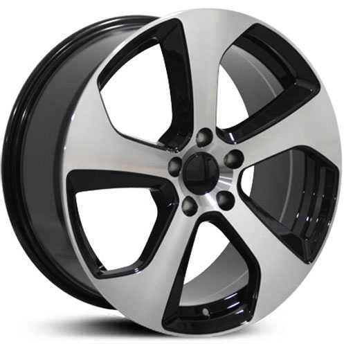 Volkswagen GTI (VW22)  Wheels Black Machined