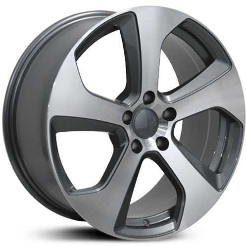 Volkswagen GTI (VW22)  Rims Gunmetal Machined Face