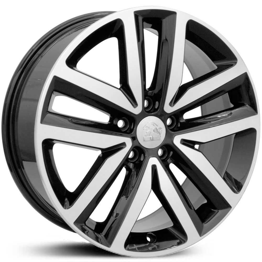 Volkswagen Jetta (VW27)  Rims Black Machined