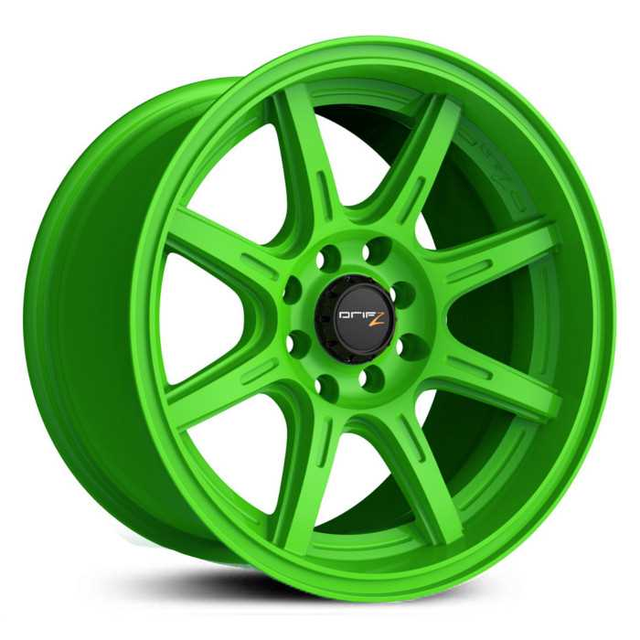 Drifz 308LG Spec-R  Wheels Gloss Lime Green