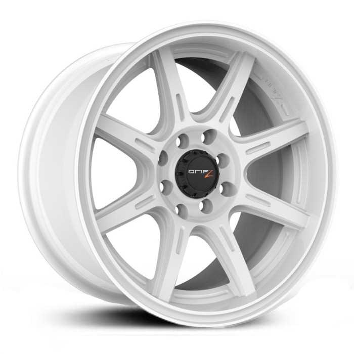 Drifz 308W Spec-R  Wheels Gloss White