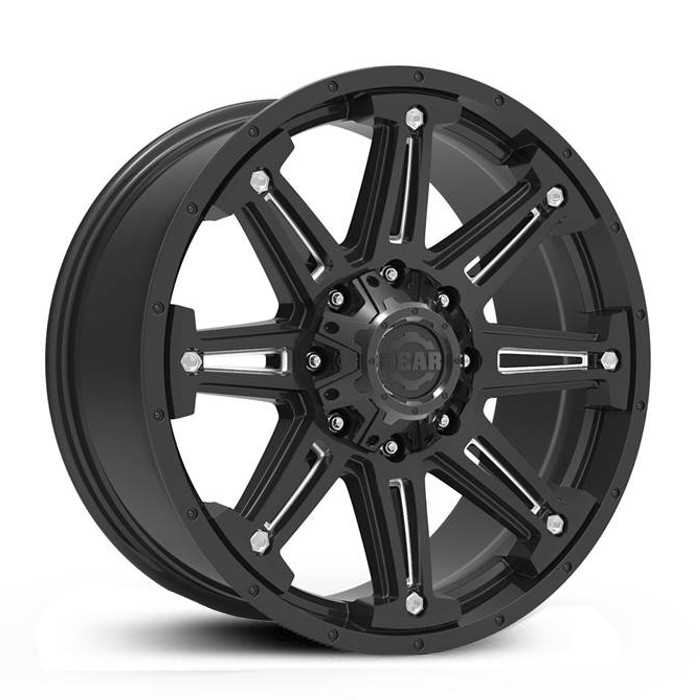 Gear Alloy 741BM Mechanic  Wheels Gloss Black with CNC Milled Accents