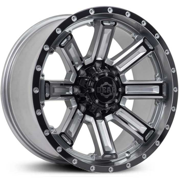 Gear Alloy 738GB Switchback  Wheels Gloss Gunmetal w/ Black Spoke & Lip Accents