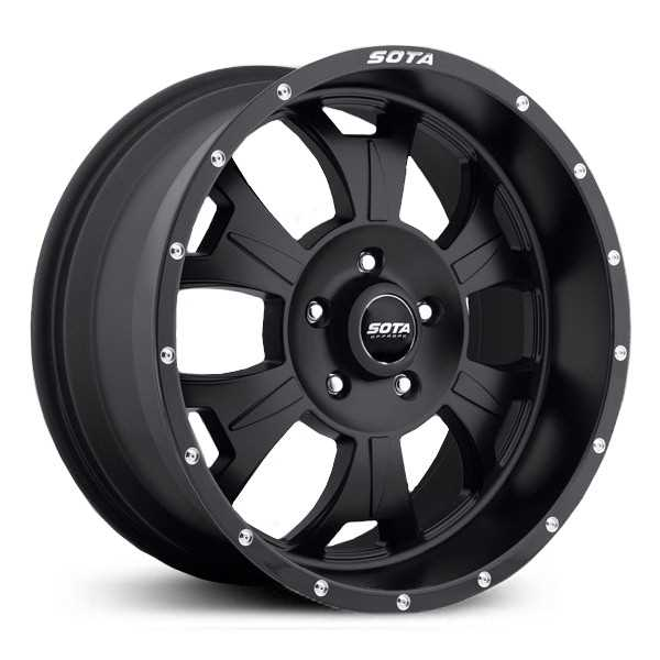 SOTA Offroad 562SB M-80  Wheels Stealth Satin Black w/ Machined Lip Accents