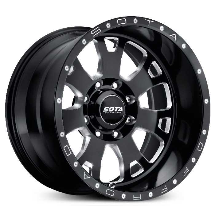SOTA Offroad 570DM Brawl  Wheels Death Metal Gloss Black w/ CNC Milling