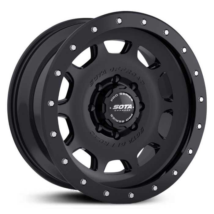 SOTA Offroad 321SB D.R.T.  Wheels Stealth Satin Black w/ Machined Lip Accents
