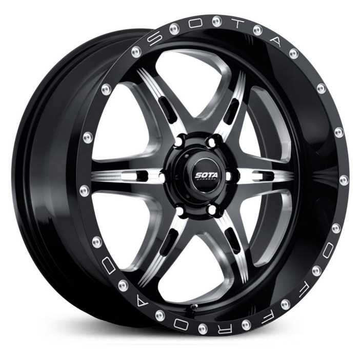 SOTA Offroad 567DM F.I.T.E  Wheels Death Metal Gloss Black w/ CNC Milling