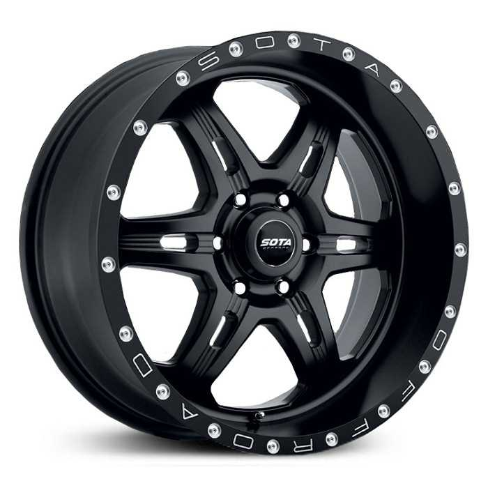 SOTA Offroad 567SB F.I.T.E  Wheels Stealth Satin Black w/ Machined Lip Accents