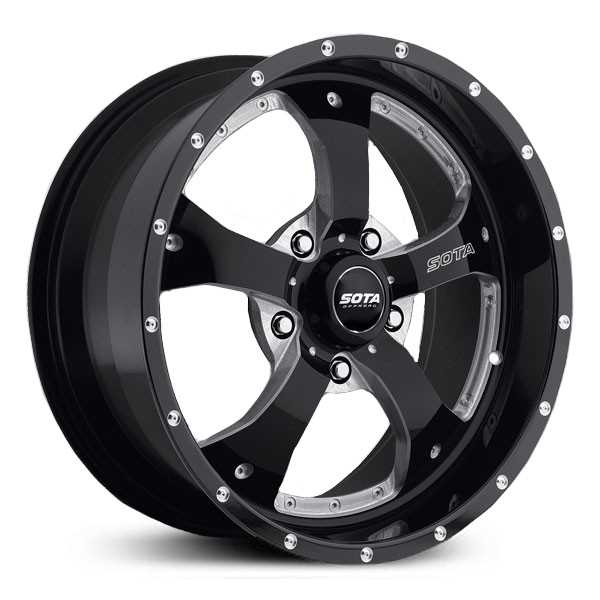 SOTA Offroad 561DM Novakane  Wheels Death Metal Gloss Black w/ CNC Milling