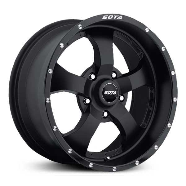 SOTA Offroad 561SB Novakane  Wheels Stealth Satin Black w/ Machined Lip Accents