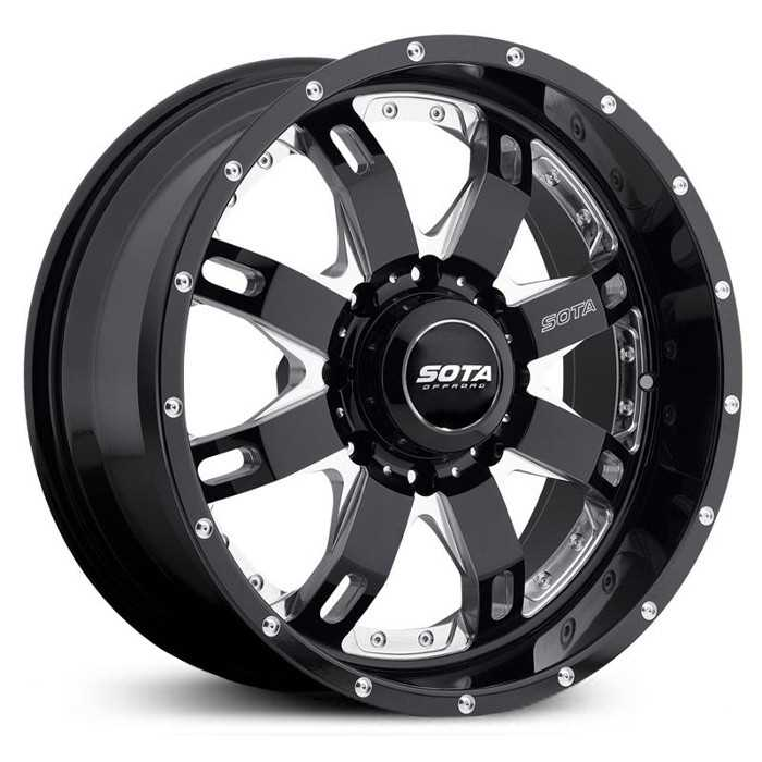 SOTA Offroad 565DM R.E.P.R.  Wheels Death Metal Gloss Black w/ CNC Milling