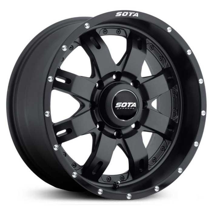 SOTA Offroad 565SB R.E.P.R.  Wheels Stealth Satin Black w/ Machined Lip Accents