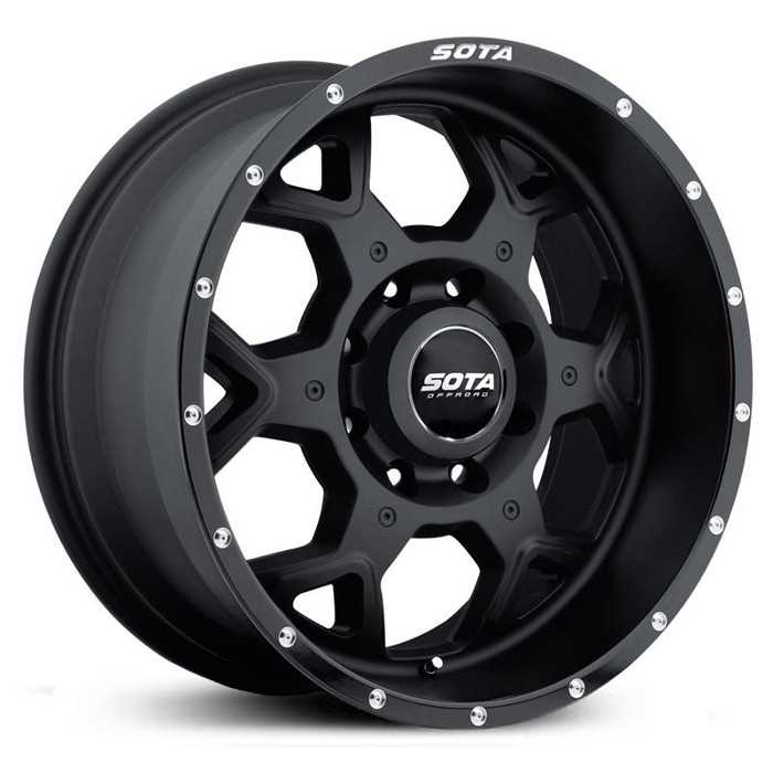 SOTA Offroad 560SB S.K.U.L  Wheels Stealth Satin Black w/ Machined Lip Accents