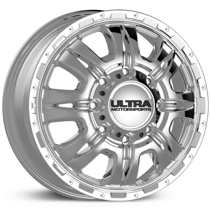 Ultra 049C Predator Dually  Wheels Chrome (Front)