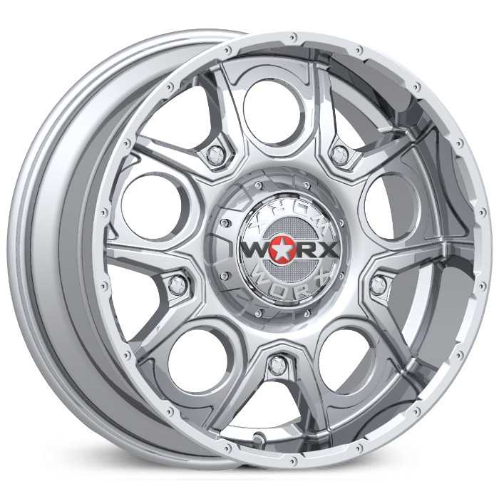 Worx Alloy 809C Rebel  Wheels Chrome
