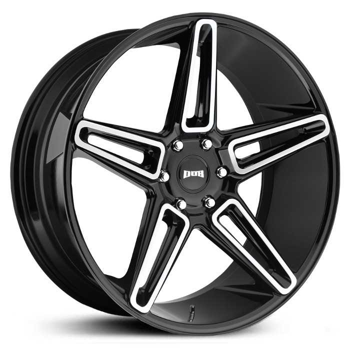 Dub S203 LIT  Wheels Gloss Black Brushed
