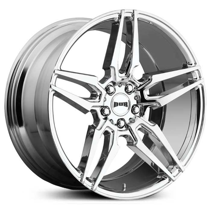 Dub S210 Attack 5  Wheels Chrome