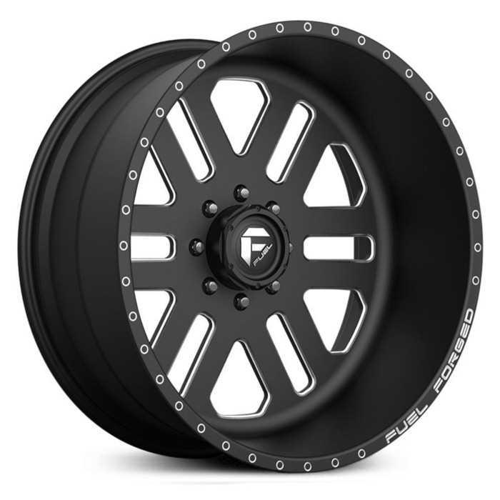 Fuel Forged FF08 Forged  Wheels Black Milled