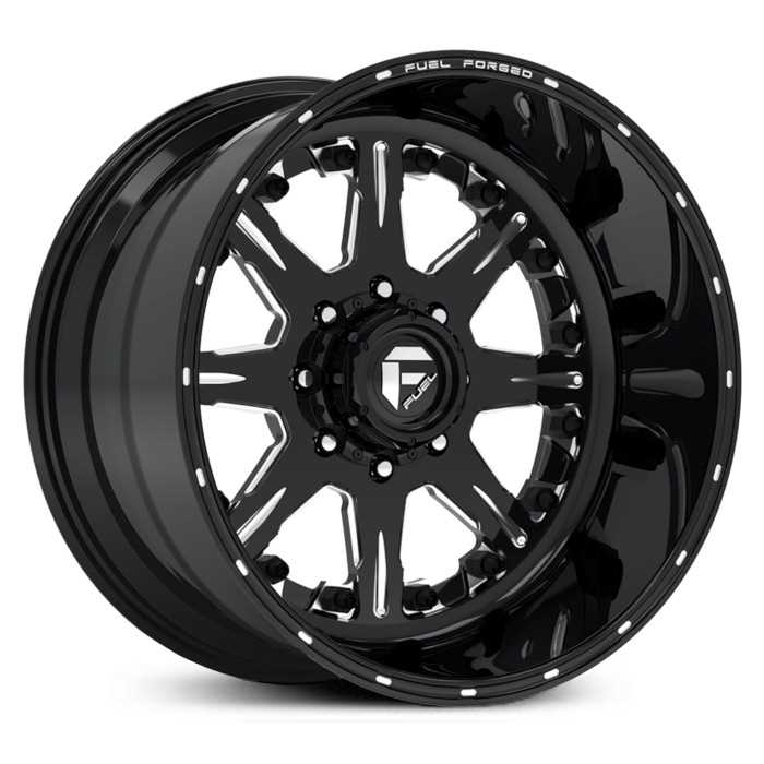 Fuel Forged FF25 Forged  Wheels Black Milled