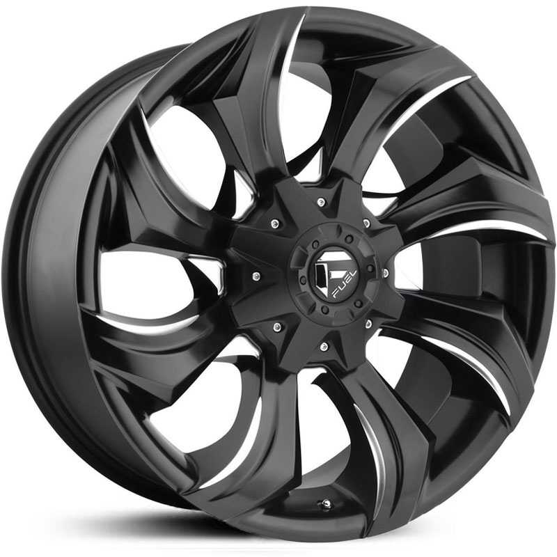 20x9 Fuel Offroad D571 Strykr Gloss Black Milled Mid Wheels And Rims