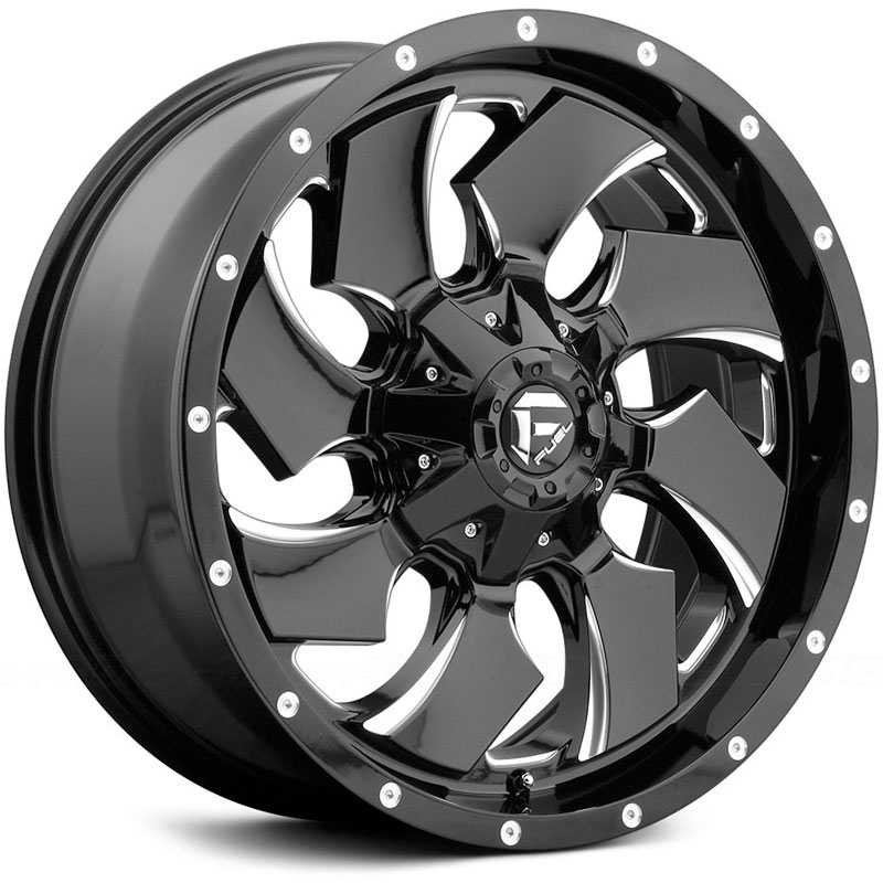 Fuel Wheels 20x9 >> 20x9 Fuel Offroad D574 Cleaver Gloss Black Milled Mid