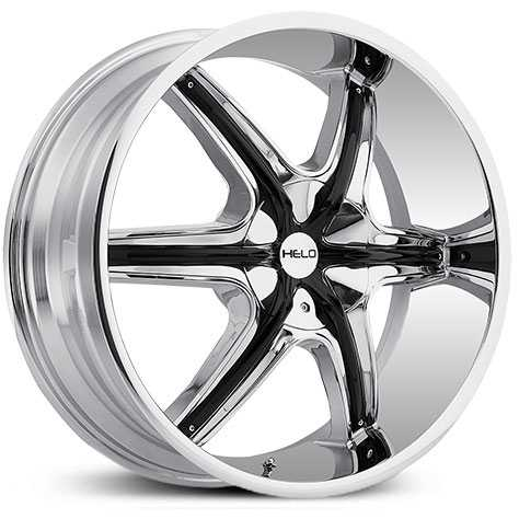 Helo HE891  Wheels Chrome w/ Black Accents