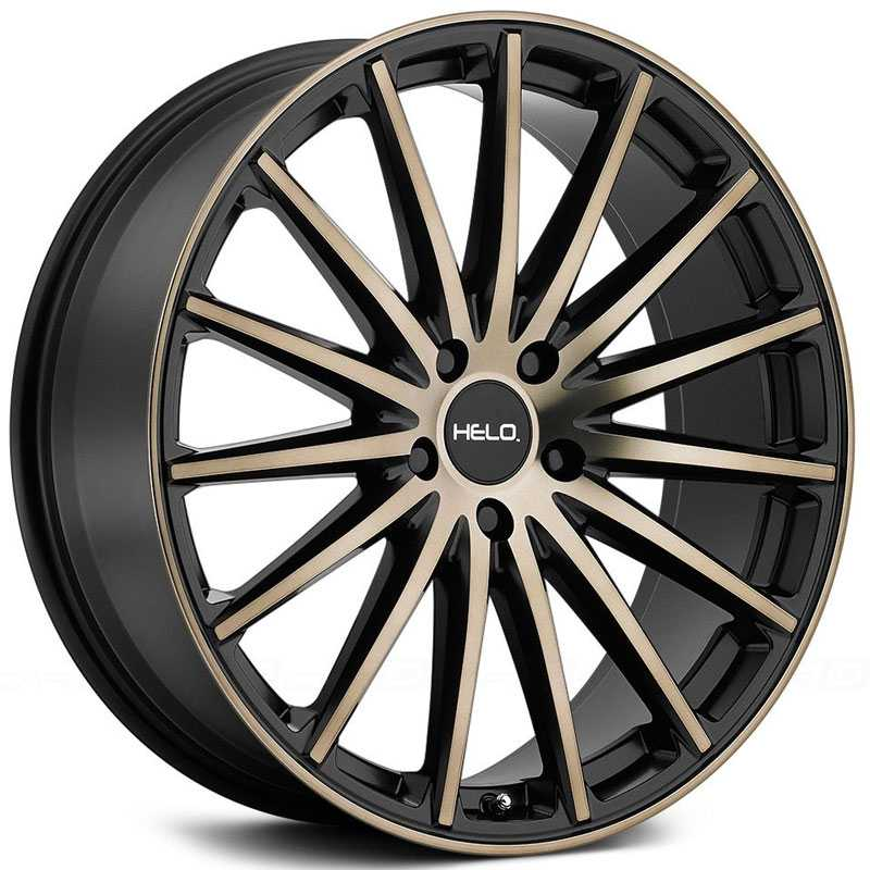 Helo HE894  Wheels Satin Black Machined Face & Tinted Clear