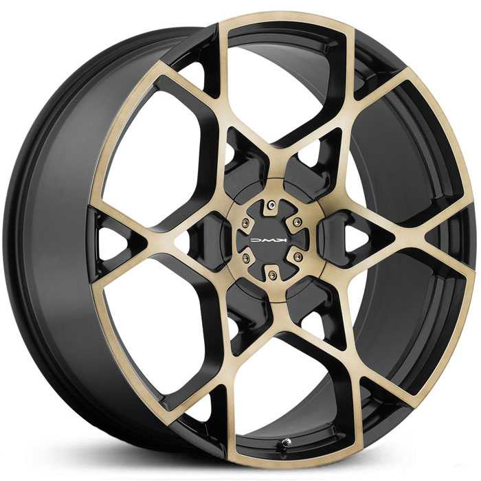 KMC KM695 Crosshair  Wheels Satin Black w/ Machined Face & Tinted Clear