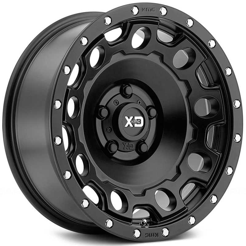 KMC XD Series XD129 Holeshot  Wheels Satin Black