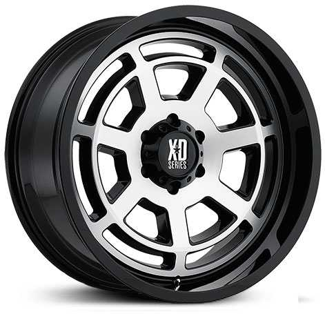 KMC XD Series XD824 Bones  Wheels Gloss Black Machined