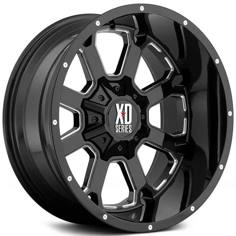 KMC XD Series XD825 Buck 25 Gloss Black Milled