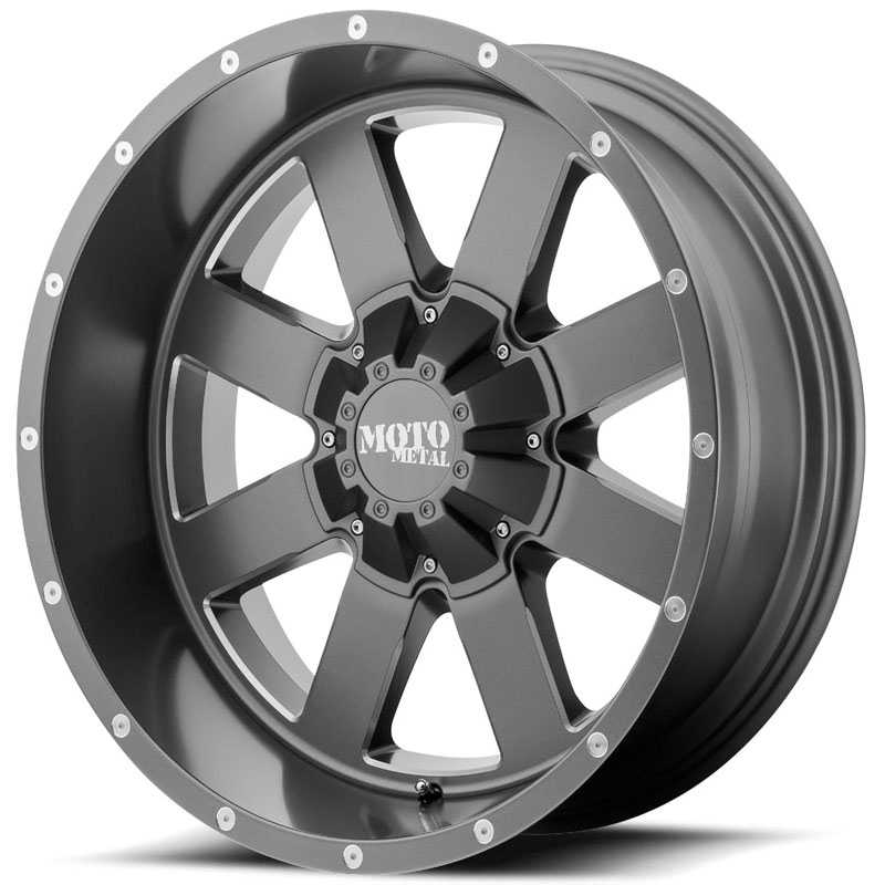 Moto Metal MO962  Wheels Satin Gray Milled Accents