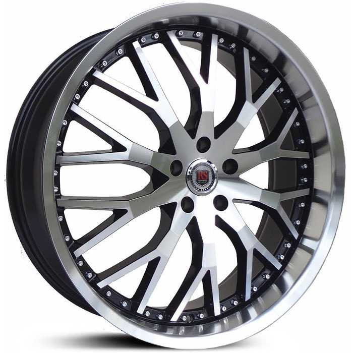 6927c83913f4 22x8 Red Sport RSW 125 Black   Machined HPO Wheels and Rims