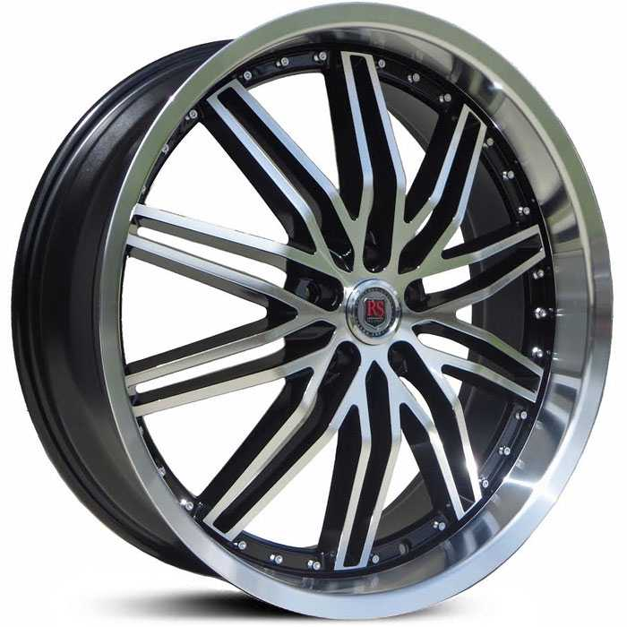 Red Sport RSW130  Wheels Black Machined