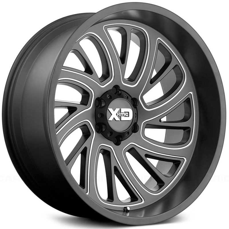 KMC XD Series XD826  Wheels Satin Black Milled