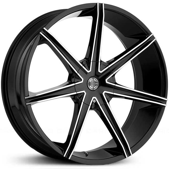 2Crave No 29  Wheels Gloss Black Machined