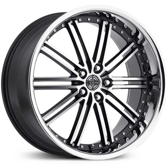 2Crave No 33  Wheels Gloss Black Machined Chrome Lip