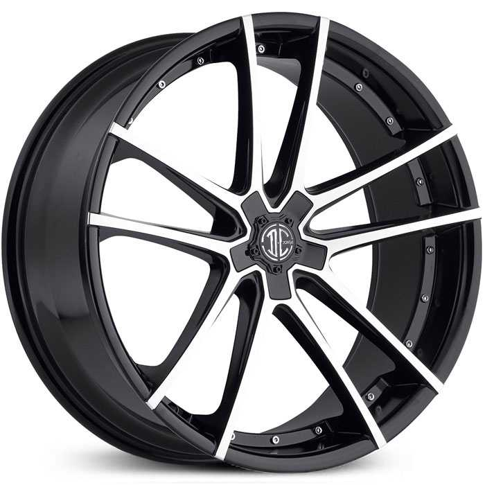 2Crave No 34  Wheels Gloss Black Machined