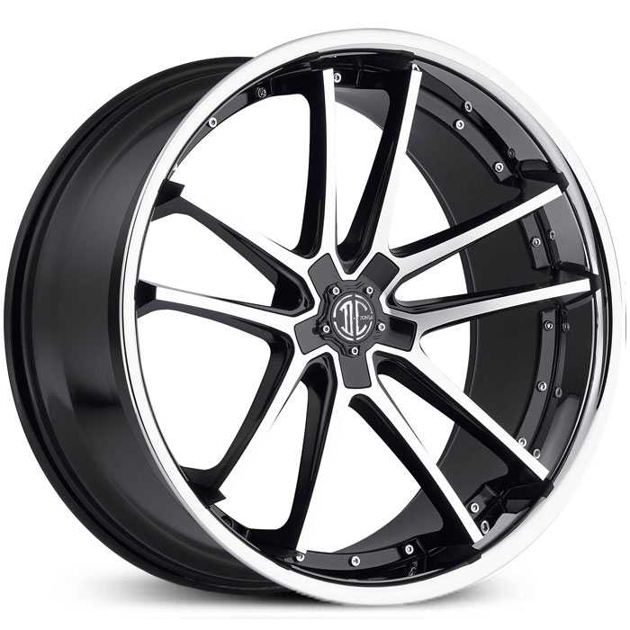 2Crave No 34  Wheels Gloss Black Machined Chrome Lip