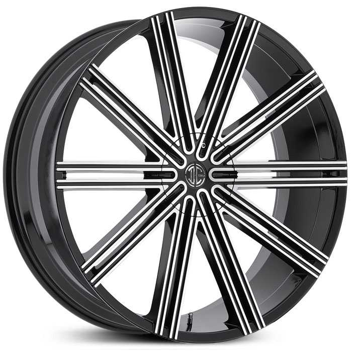2Crave No 37  Wheels Gloss Black Machined Face