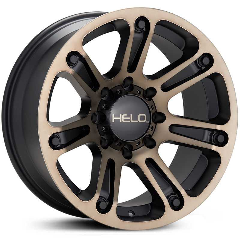 Helo HE904  Wheels Satin Black Machined With Tinted Clear