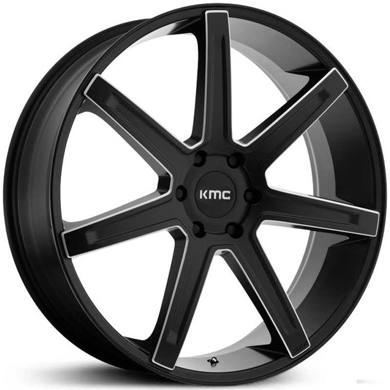 KMC KM700  Wheels Satin Black Milled