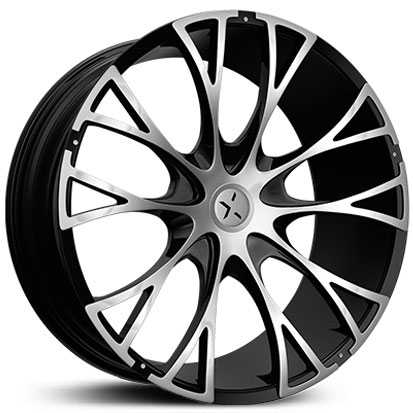 Starr 554 Federal  Wheels Black Machined Face