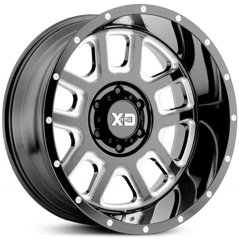 XD Series XD828 Delta  Wheels Gloss Black Milled