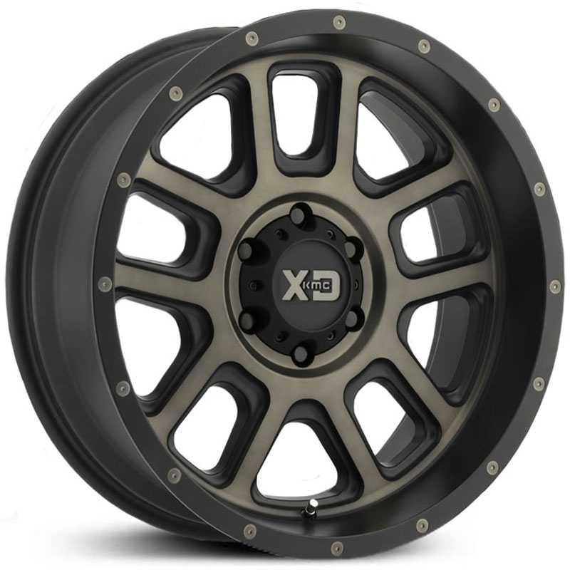 XD Series XD828 Delta  Wheels Matte Black w/ Tinted Clear