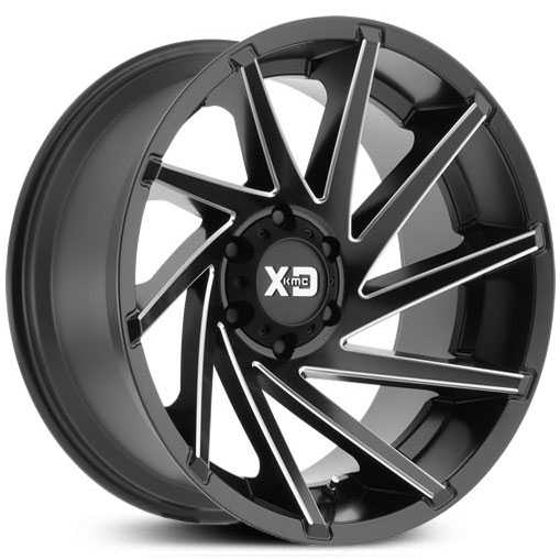 XD Series XD834 Cyclone  Wheels Satin Gray Milled