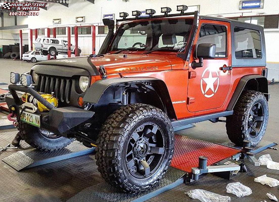 Jeep Wrangler XD Series XD811 Rockstar 2 Wheels Satin Black and Black Inserts