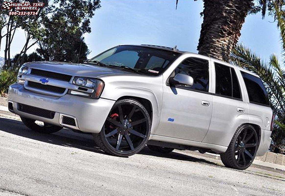 Chevrolet Tahoe Kmc Km651 Slide Wheels Gloss Black