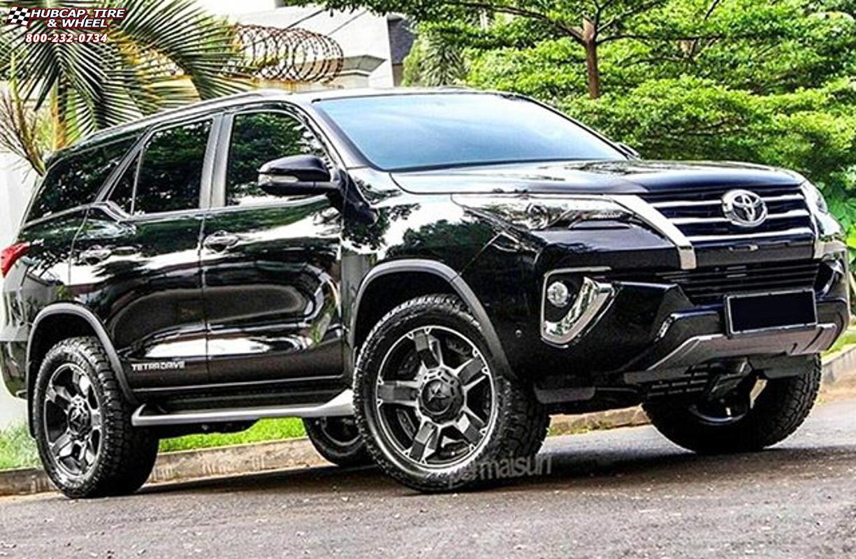 Ford F150 For Sale South Africa >> Toyota Fortuner XD Series XD811 Rockstar 2 Wheels Black Machined Black Inserts