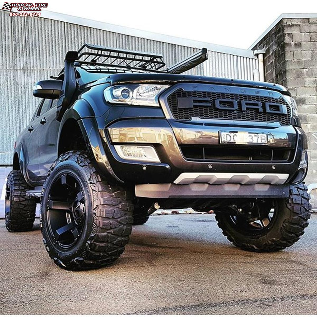 Ford Ranger 4x4 2000 >> Ford Ranger Wildtrak XD Series XD811 Rockstar 2 Wheels Satin Black and Black Inserts